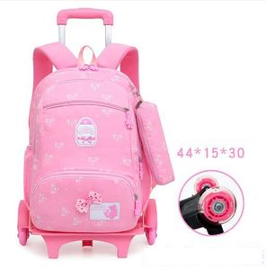 Image 3 - School Rolling backpack for Kids Wheeled Backpack for school Children school trolley Bag kids travel trolley backpack on wheels