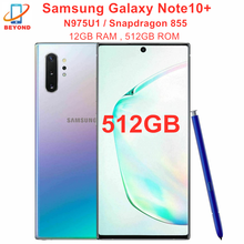 Samsung Galaxy Note10 + N975U1 Nota 10 Plus N975U 512GB ROM 12GB de RAM Octa Core 6,8