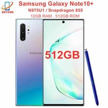 Samsung Galaxy Note10 + N975U1 Nota 10 Plus N975U 512GB ROM 12GB de RAM Octa Core 6,8