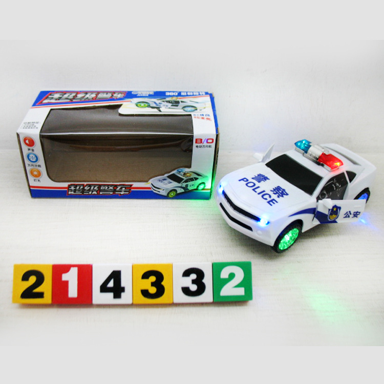 301C Light Model Electric Door Opening Police Car Children'S Educational Early Childhood Toy Car Hot Selling