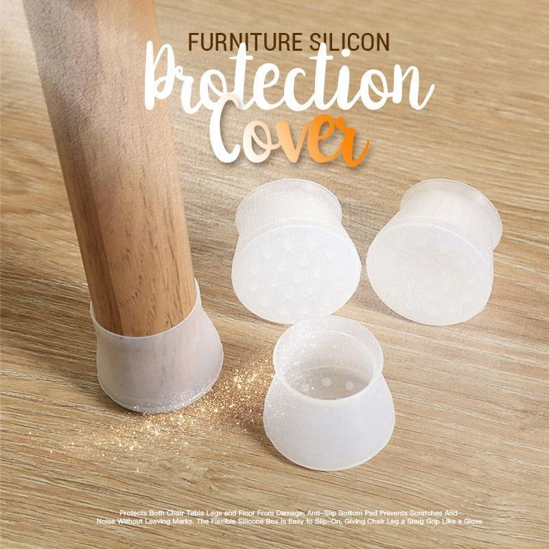16/Pcs Furniture Silicon Protection Cover Table Leg Cover Stool Leg Cover Table Leg Mat Table Foot Protector