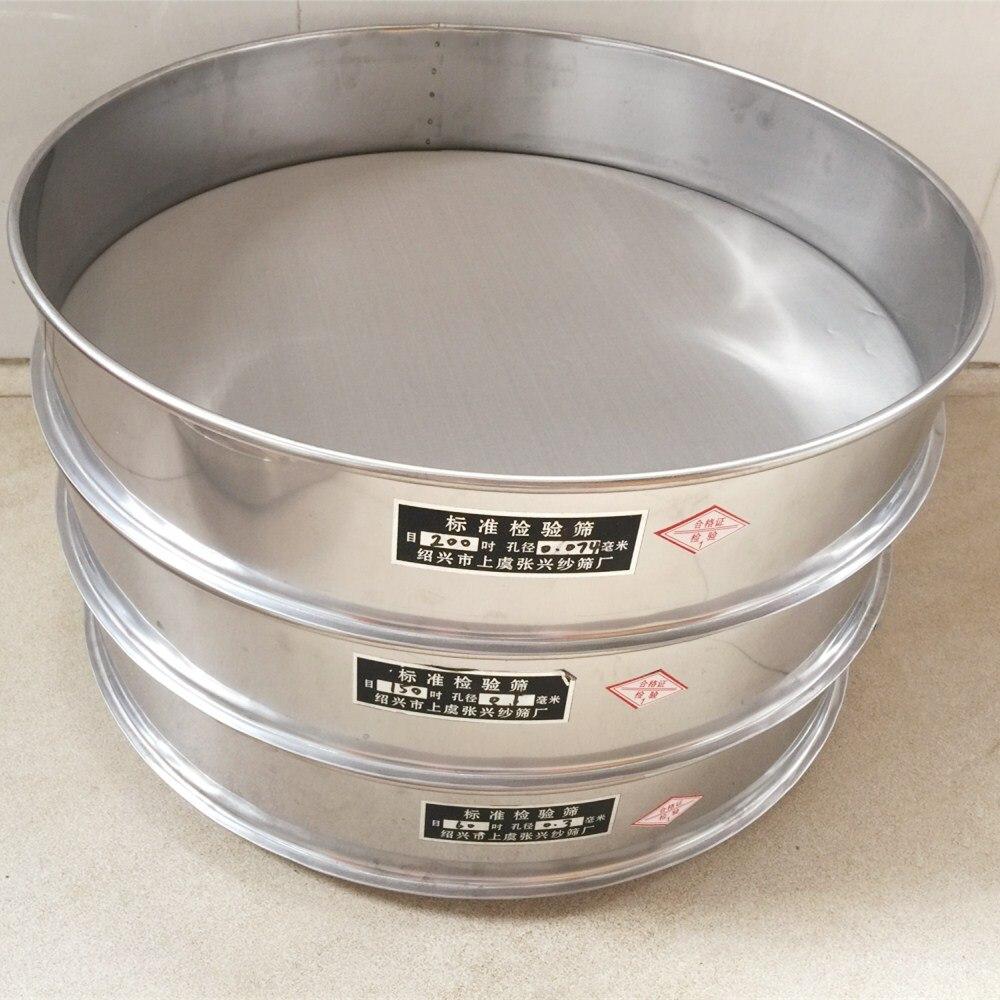 Sampling Inspection Pharmacopeia Sieve Standard Laboratory Test Sieve 304 SUS Frame Filter Mesh Sieve Dia 40cm 12 - 200 Mesh