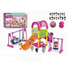 Горячий L.O.L. Сюрприз! Кукольные игрушки LOL, фигурки парка развлечений, модель, куклы «ОМГ», сестры, «сделай сам», игровой домик, игрушки для де...