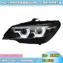 อุปกรณ์เสริมสำหรับรถยนต์สำหรับ BMW Z4 E89 LED ไฟหน้า 2009 2016 สำหรับ Z4 ไฟหน้าดวงตา LED DRL H7 HID bi Xenon เลนส์ LOW Beam