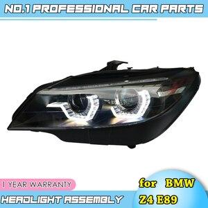 Image 1 - Faros led para coche BMW, faros delanteros LED para coche BMW Z4 E89 2006 2018, ojos angulares led drl H7 hid, lente bi xenón, haz bajo