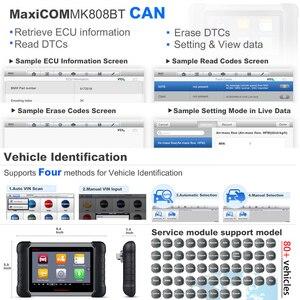 Image 4 - 2021 najnowszy Autel MaxiCOM MK808BT skaner OBD2 narzędzie diagnostyczne do samochodów Auto IMMO/EPB/SAS/BMS/TPMS/DPF ulepszona wersja MK808