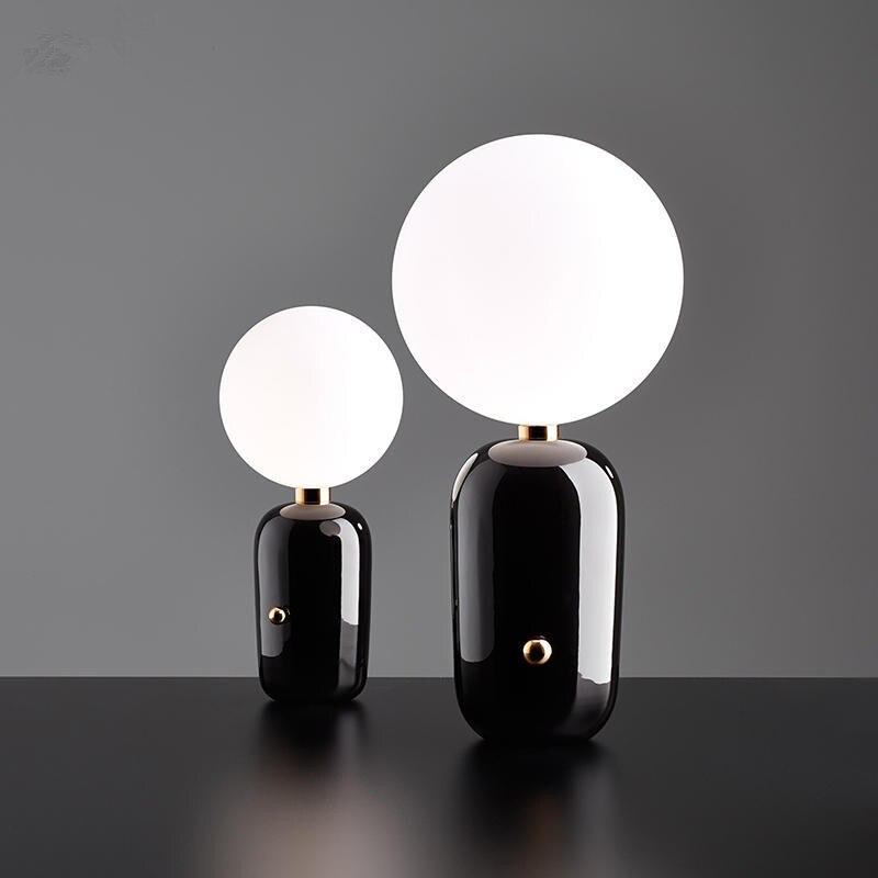 Modern Creative Led Desk Lamp Fashion Parachilna Aballs Doll Desk Lamp Golden White Bedside Children's Study led Desk Light
