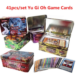 41pcs/set Yu Gi Oh Games Not repeating English Cards Game Collection Cards with Toys kids Christmas Gift With Box