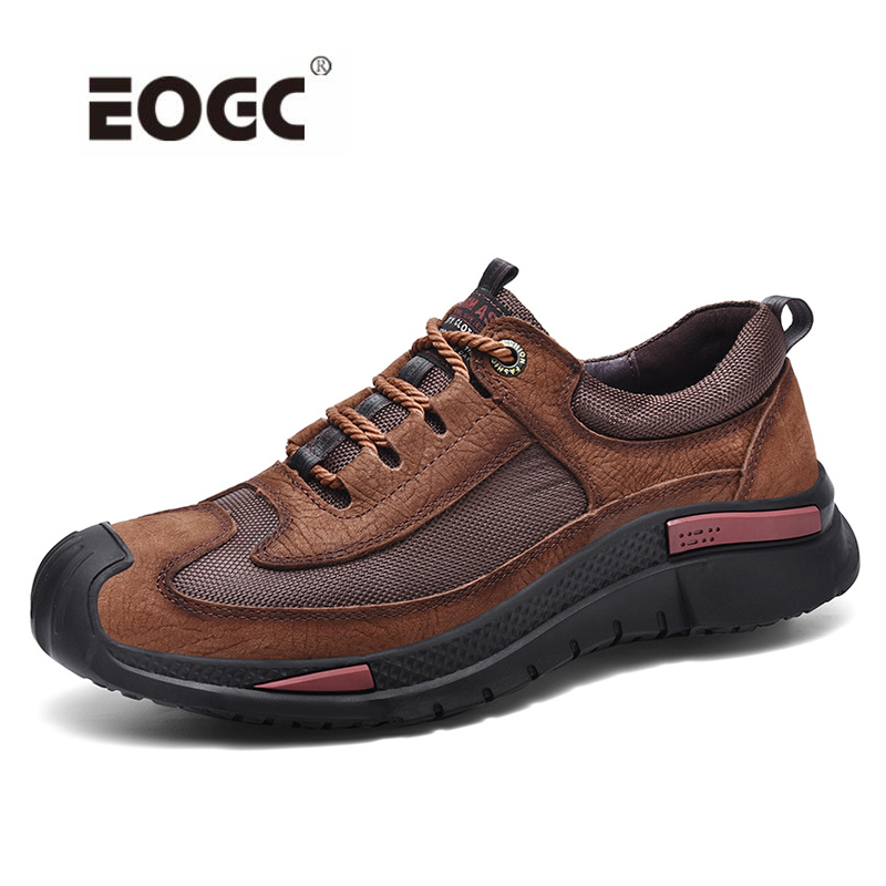 High Quality Genuine Leather Men Shoes Outdoor Lace Up Autumn Casual Shoes Sneakers Breathable Designer Flats Shoes Men