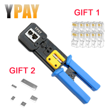 YPAY EZ rj45 cable crimper hand network tools pliers rj12 cat5 cat6 8p 6p rj 45 Stripper pressing clamp tongs clip multifunction