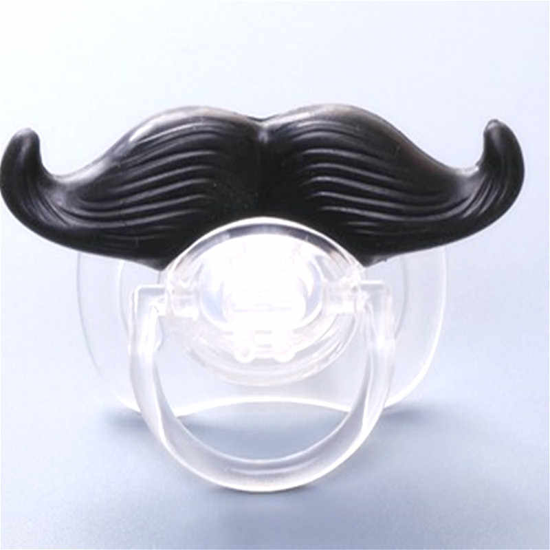 1pcs Baby Beard Pacifier Silicone Funny Nipple Dummy Baby Soother Joke Prank Toddler Orthodontic Nipples Teether Baby Christmas
