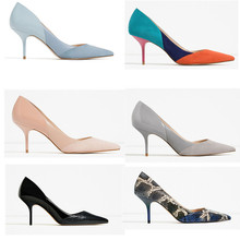 HKXN 2021 Fashion PU Leather Women Pumps Sexy Printing High Heels Shoes Point Toe mules high Party Wedding Pump Drop Shipping