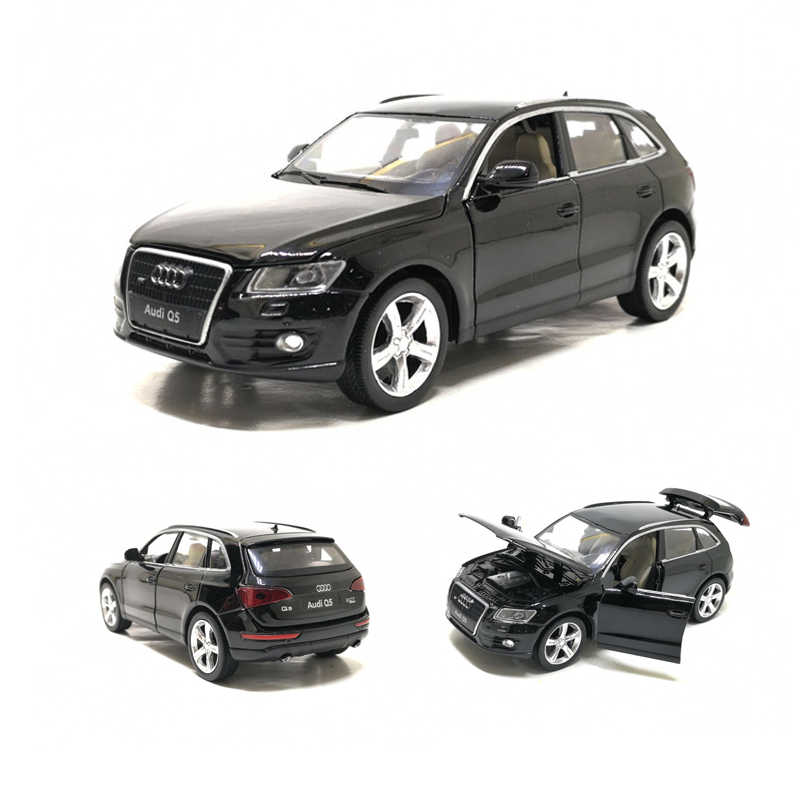 Diecast Toy Model 1:32 Scale Audi Q5 Sport SUV Car With Pull Back Sound Light Children Gift Collection Free Shipping