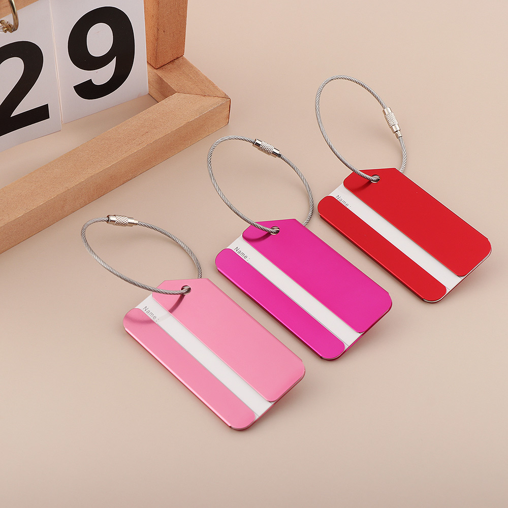 New Travel Luggage Tags Suitcase Label Durable Aluminium Alloy Name Address ID Baggage Tag Fashion Travel Accessories 2019