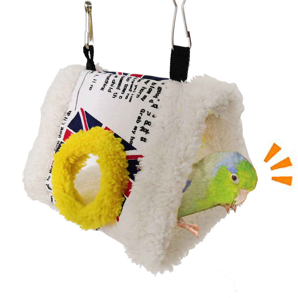 Bird Nest Supplies Thickened Cave Home Pet Soft Hammock Easy Clean Parrot Hanging Cage Cute Bed Tent Winter Warm