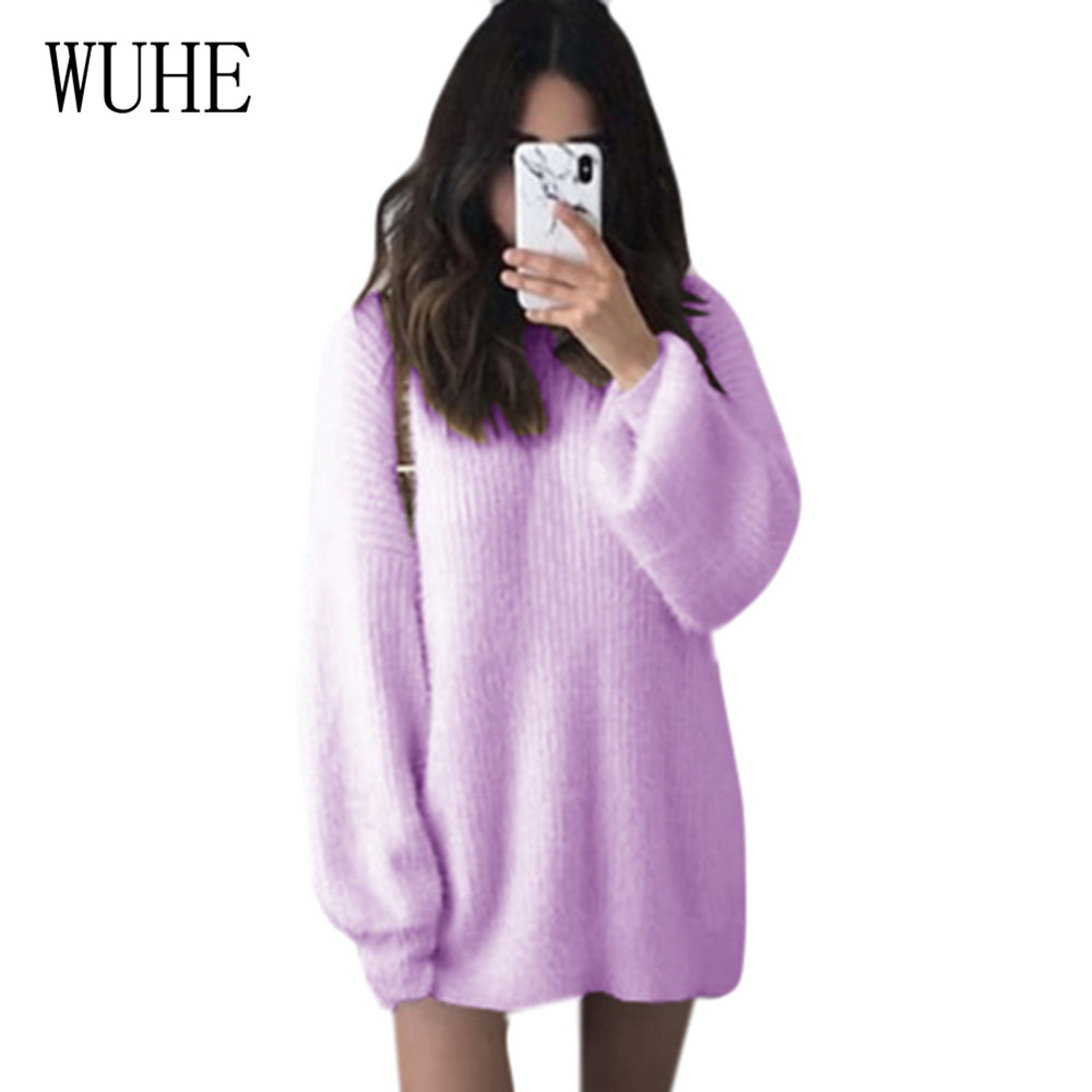 WUHE High Quality Large Size 4XL 5XL Lady Sweater Elastic O Neck Women Slim Sexy Tight Bottoming Knitted Pullovers