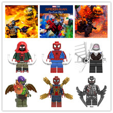 Человек-паук: далеко от дома зеленый дьявол стервятник модель строительных блоков совместимые мальчики игрушки для детей