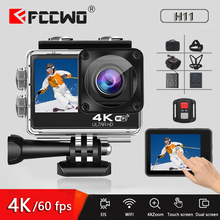 H11 Action Camera 4K 60FPS 24MP 2.0 Touch LCD EIS Dual Screen WiFi Waterproof Remote Control 4X Zoom Helmet Go Sports pro Came
