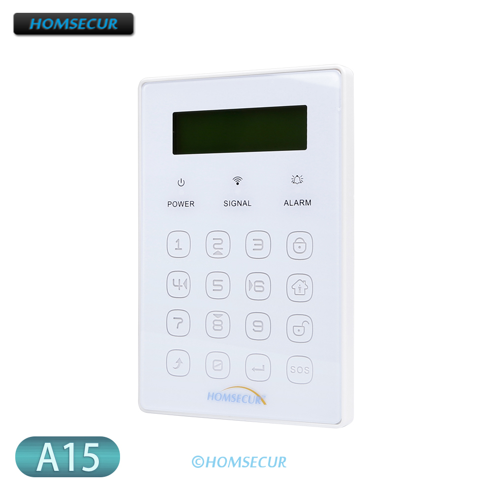 HOMSECUR Wireless Two-way Password Keypad A15 for Home Alarm System