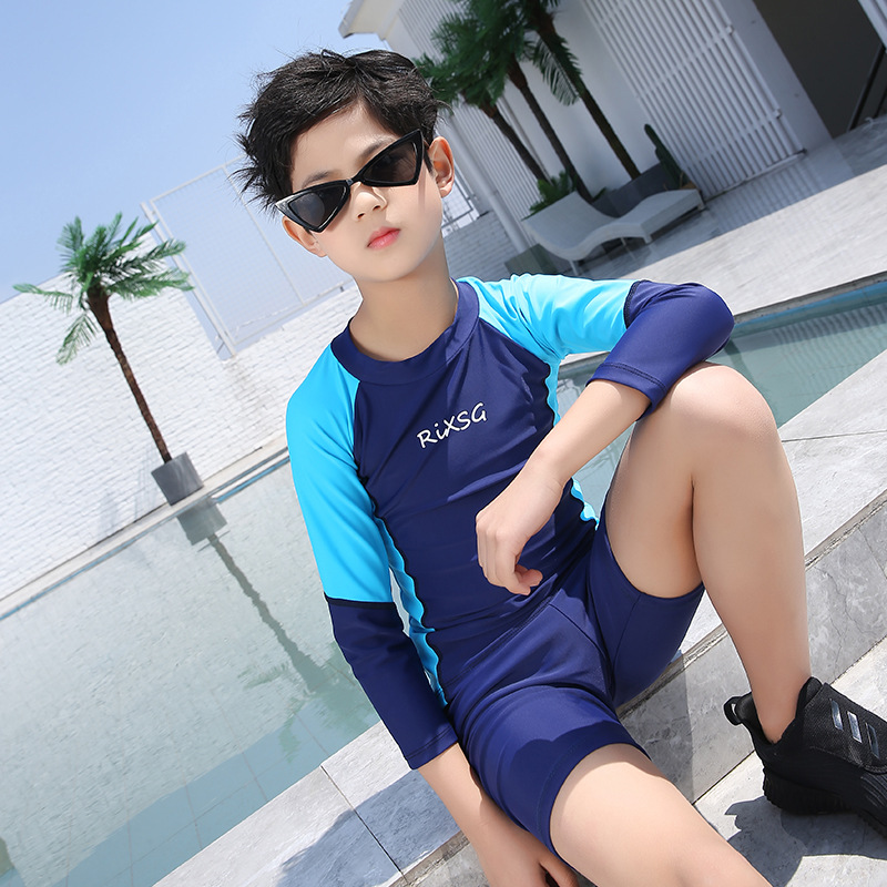 New Style Children Diving Suit Girls Sun-resistant Swimsuit Mixed Colors Cute One-piece Long Sleeve Quick-Dry Big Boy Jellyfish