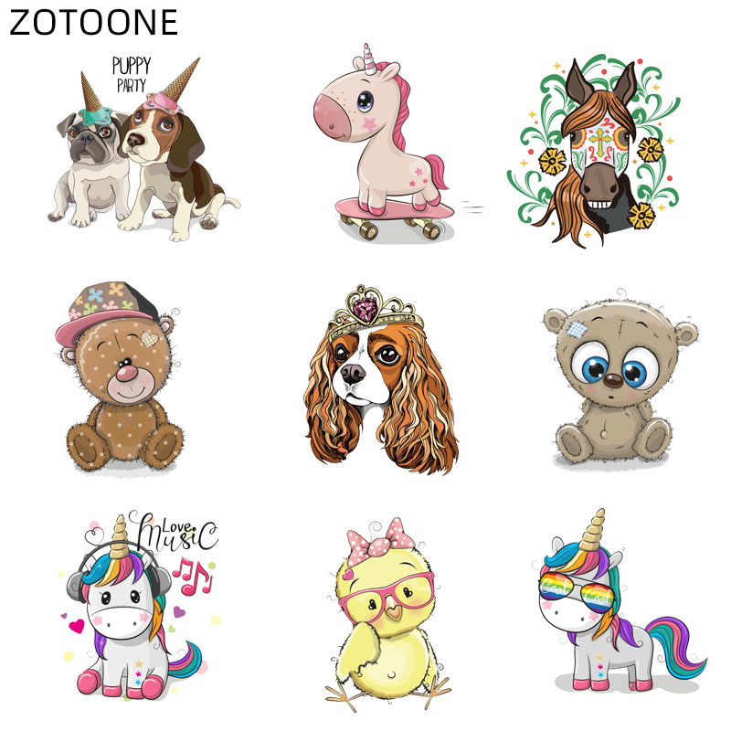 Cute Dog Patches Irons on Stickers Heat Transfer Patch Clothes Applique Decor//.