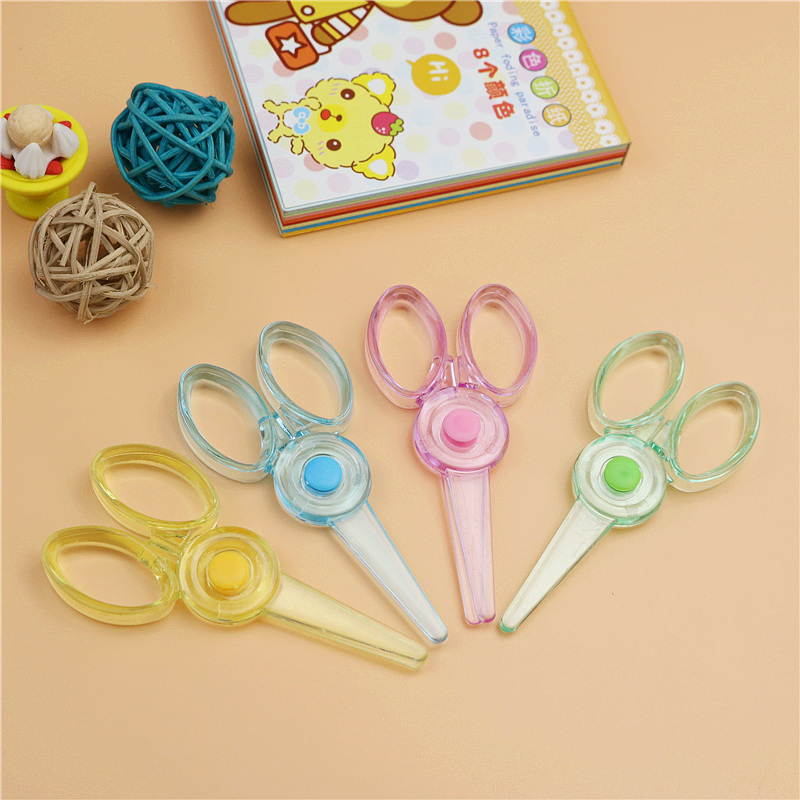 3pcs/lot Mini Plastic Scissors Cute Children's Small Size Safety Scissors Paper Cutting And Decoration School Student Stationery