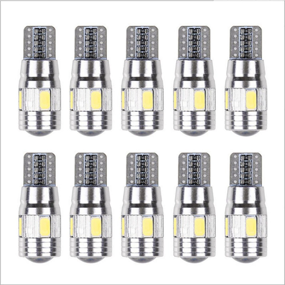 Car Light Bulb 10 Pcs 5630 6smd W5w Car 12v Led Tail Brake Rear Light Lamp Car Led Light Canbus Wedge Bulb Lamp Hot Hot