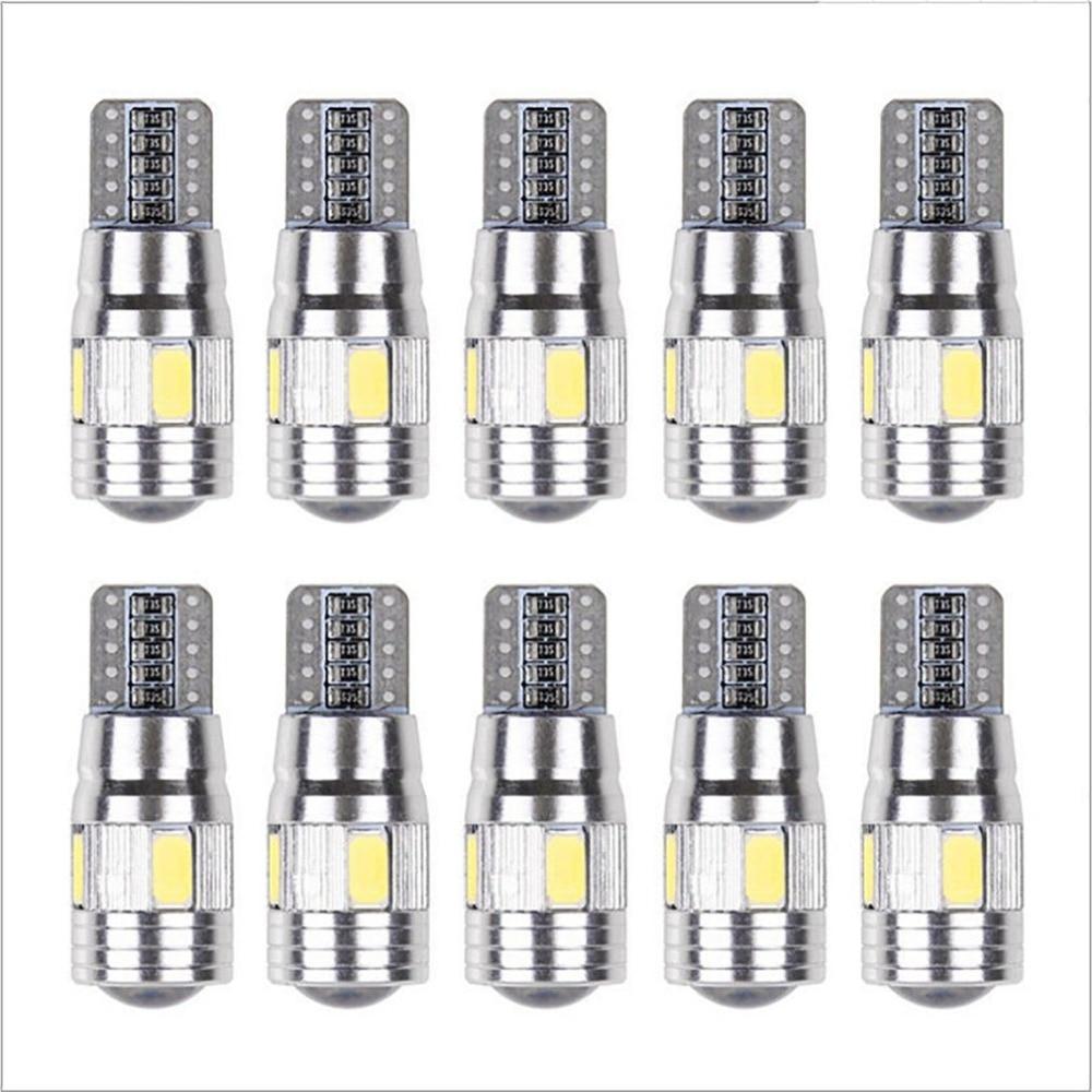Car Light Bulb 10 Pcs 5630 6smd W5w Car 12v Led Tail Brake Rear Light Lamp Car Led Light Canbus Wedge Bulb Lamp Hot Hot