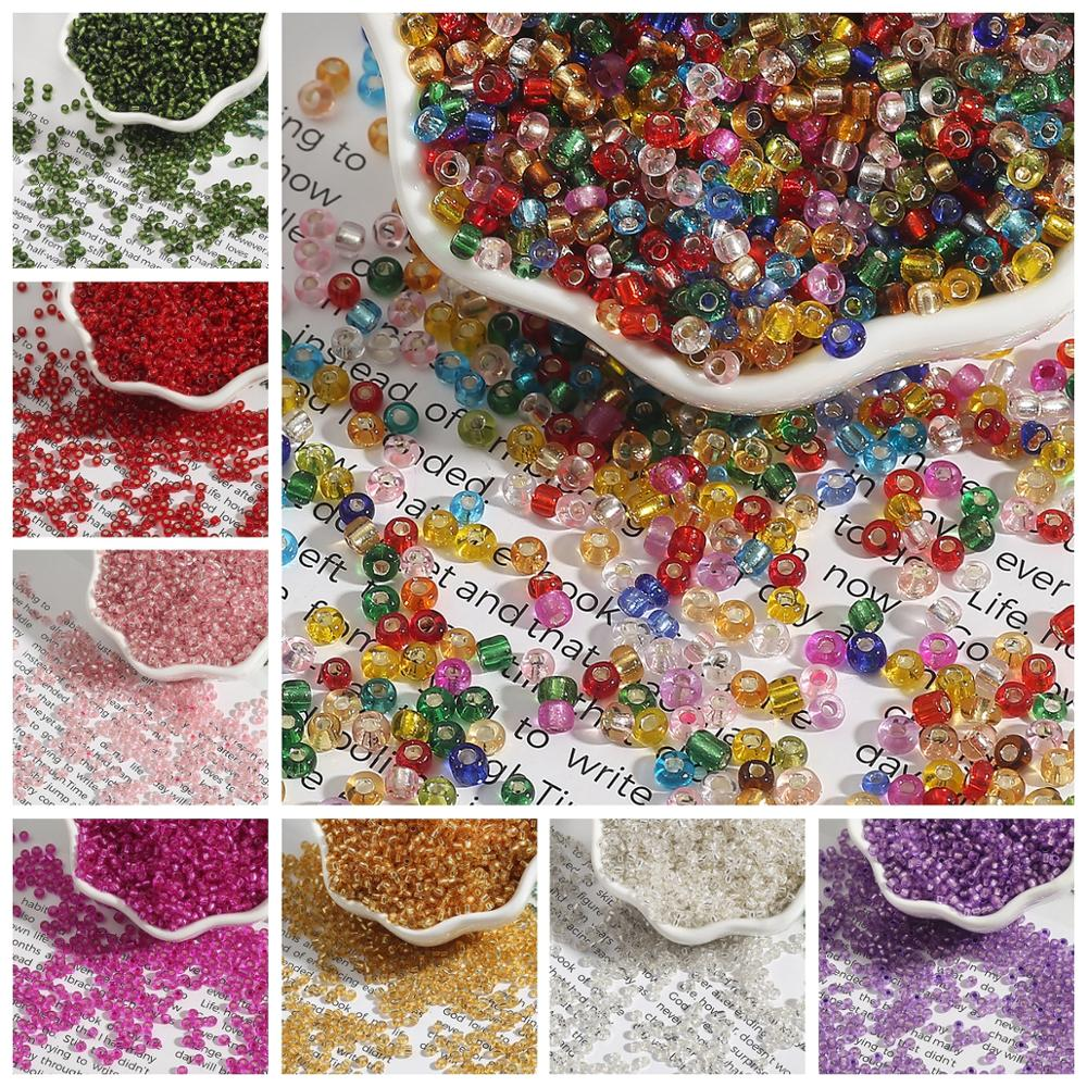 Graines en verre tchèque, 150 à 1000 pièces, 20 couleurs, en cristal, trous ronds, perles despacement, pour la fabrication de bijoux à bricoler soi-même, vente en gros