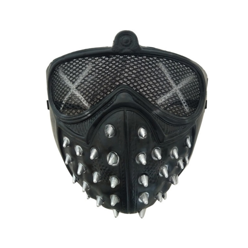 Halloween Mysterious Stage Masks With Rivets Cool Street Style For Man Black Gold Party Face Plastic Mask Accessories 2