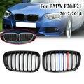 Для BMW F20 F21 1 серия 2012 2013 2014 2015 пара ABS автомобильные аксессуары Замена автомобиля черный глянец M Передняя решетка для почек гриль