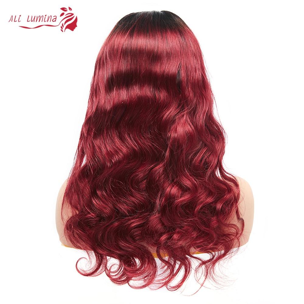 Body Wave Lace Wigs 4x4 Closure Colored  Wigs  Ombre Blonde Orange  Lace Closure Wigs 5