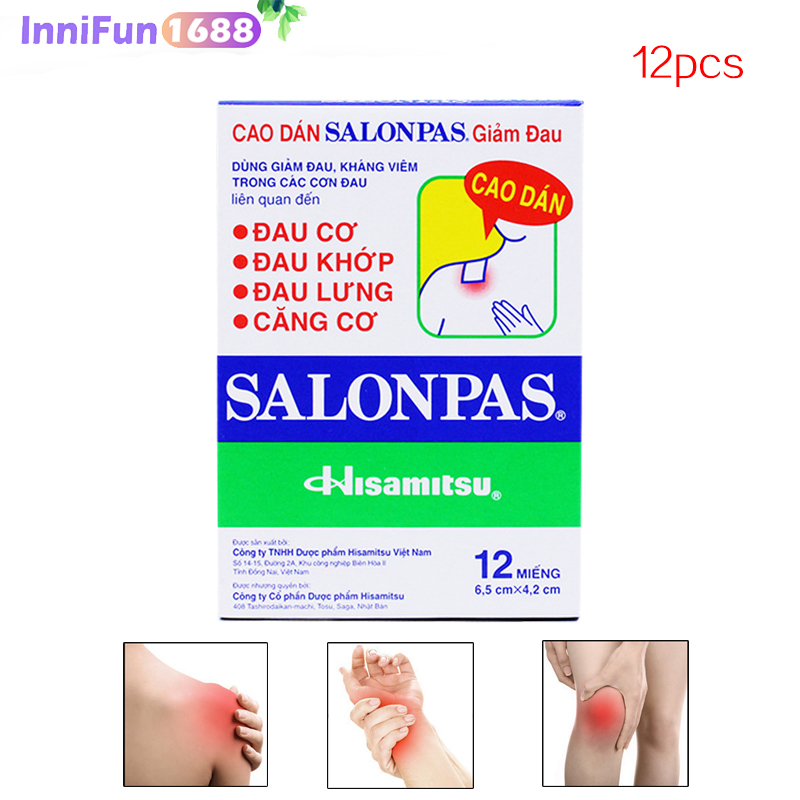 12pcs Vietnam Herbal Patches Shoulder Muscles And Joints Ache, Fall Injury, Sprain, Eliminate Swelling.