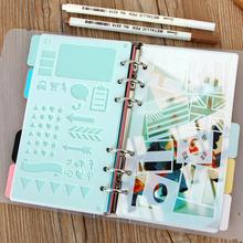 2pcs DIY Craft Cutting Dies Stencil Plastic A6 Planner 2021 Drawing Template Journals Planner Notebook Accessories cheap CN(Origin) Cute Stationery Notebook Inner Pages Template Office Notebook Accessories