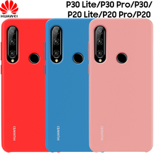 Original Official Huawei P30 Lite Case Genuine Soft Liquid Silicone Cover P20 Pro Protective Matte Back