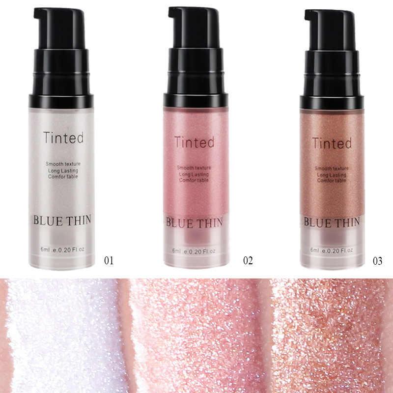 3 colori Viso Liquido Prodotti di base del Labbro di Trucco Illuminare Liquido Shimmer Eye Contour Fluorescenza Liquido Cura Della Pelle Maquiagem TSLM2