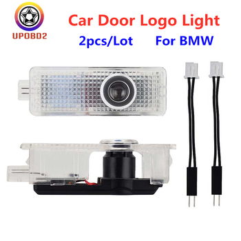 2pcs For BMW LED Car Door Logo Projector Lights Welcome Lamp For BMW E90 M3 E60 M5 E63 M6 E65 F02 E85 Car Logo Light Accessories image