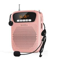 SHIDU Voice Aamplifier for Teacher Microphone Loudspeaker Megaphone Speaker  with FM Radio Colum Record Player for Tour Guide