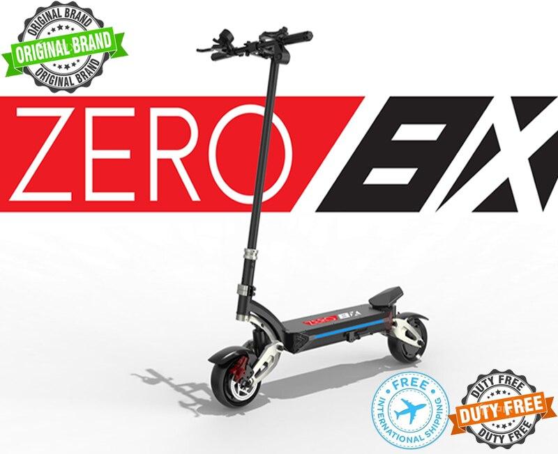 Scooter électrique zéro 8X Compact double Suspension double moteur e-scooter 800W * 2 hybride ressort et système de suspension hydraulique