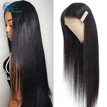 Peluca de cabello humano cruzado con encaje frontal, Peluca de cabello liso con encaje frontal, 180% de densidad, 250%