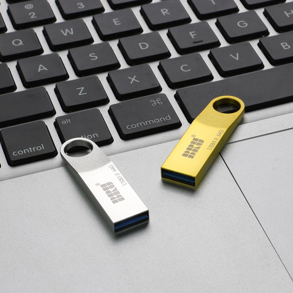 Bru Metalen Pendrive Usb Flash Drive 16Gb 32Gb 64Gb 128Gb Usb 3.0 Waterdicht Cle Usb 16 gaan Pen Drive 3.0 Custom Logo Gift Usb Key 6