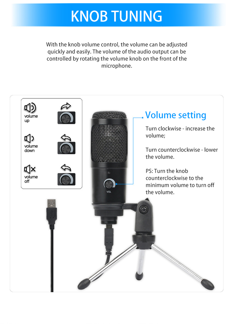 Felby USB Podcasting Condenser Microphone 15