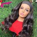 KRN парик с головной повязкой человеческие волосы натуральный Цвет волнистые натуральные бразильские Волосы Remy парики для Для женщин челове...