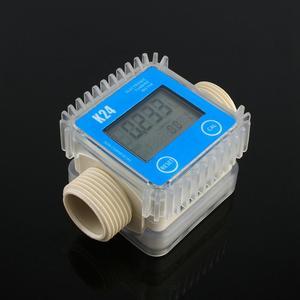 Image 4 - Digital K24 Turbine Digital Diesel Oil Fuel Flow Meter Gauge For Chemicals Liquid Water For Chemicals Water Flow Ultrasonic Flow