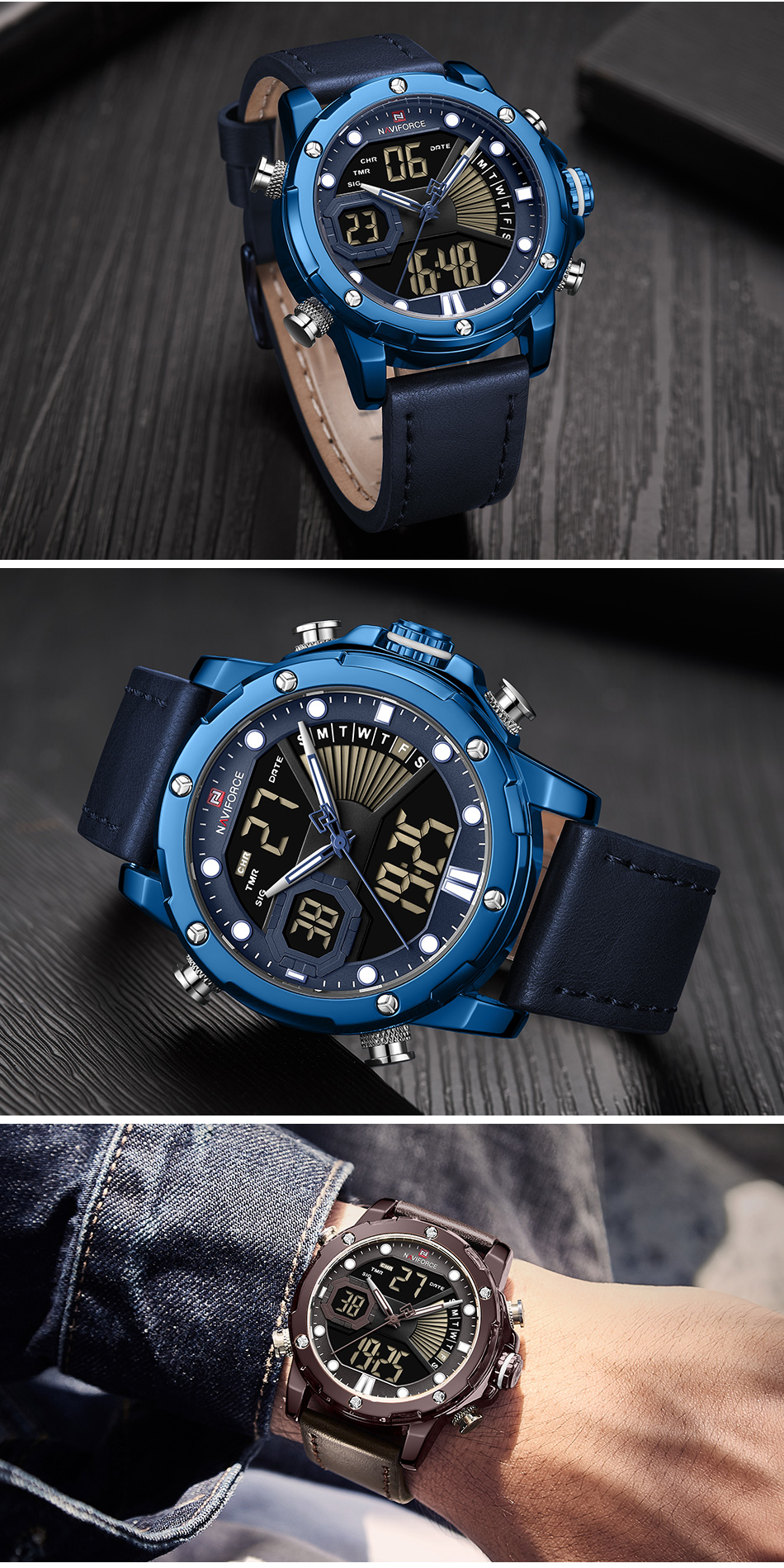 Hb96b0f10dc6747abad4c98bbe535f329L NAVIFORCE Men Watch Top Luxury Brand Fashion Sports Wristwatch