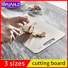 Cutting-Board Kitchen Household 304-Stainless-Steel And Fruit Antibacterial Square Mildew-Proof