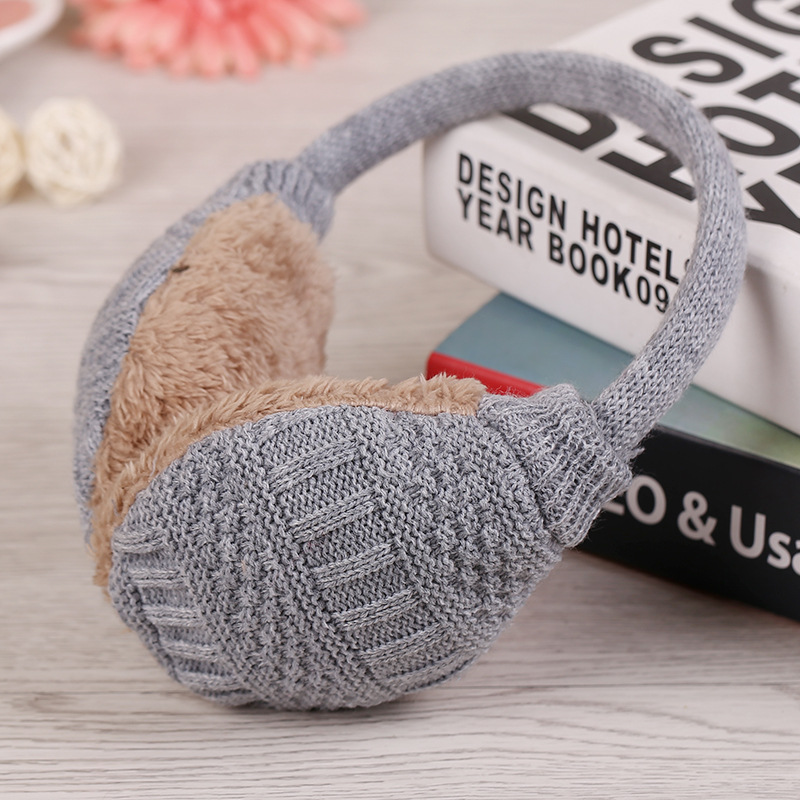 2019 New Winter Solid Color Knitted Earmuffs For Women Winter Ear Protector Warm Ear Muffs Cover Plush Winter Ear Warmers