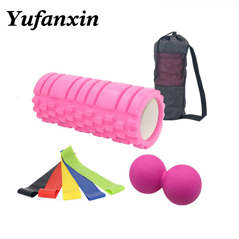 Yoga Colume Massager ball Pilates Body Building Back Sports Full Body Muscle Massage Resistance Bands Relax Foam Roller image