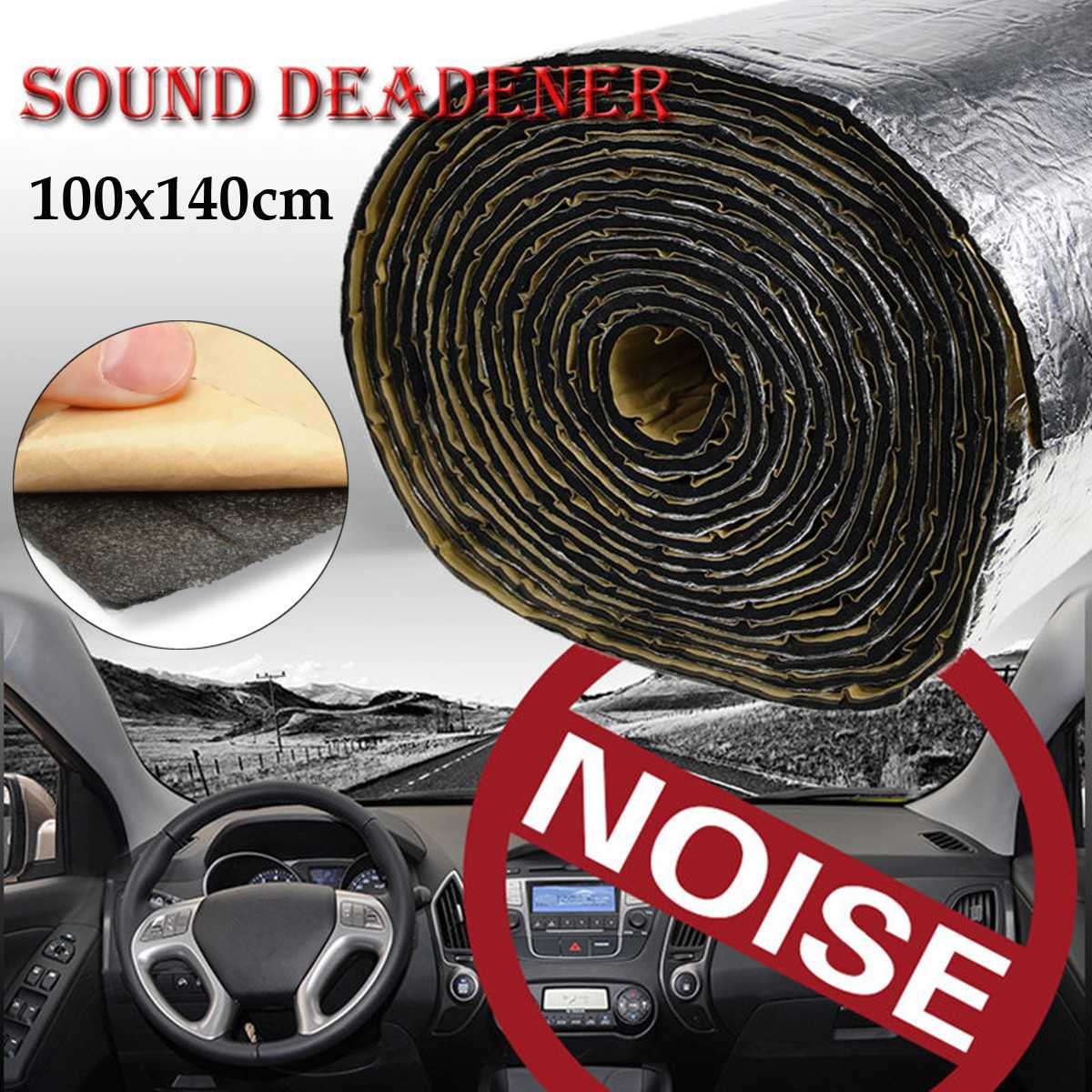100cm X 140cm Car Truck Proofing Deadening Anti-noise Sound Insulation Cotton Heat Closed Cell Foam Car Accessories Hot