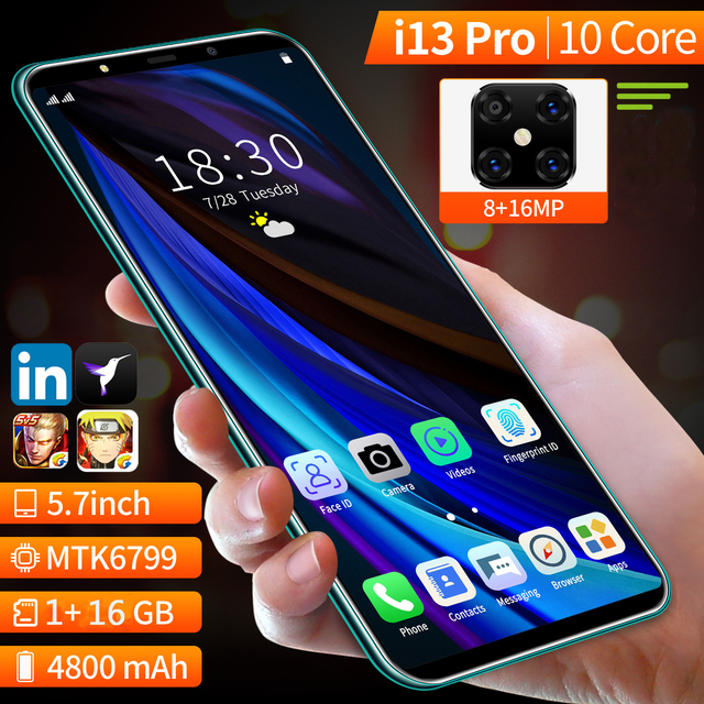 New Arrived SOYES i13 Pro Smartphone,Cheaper Dual SIM Card Mobile phone,5.7 inch Full Screen 16GB 4800mAh Cellphone 3